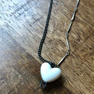 Custom made distressed necklace